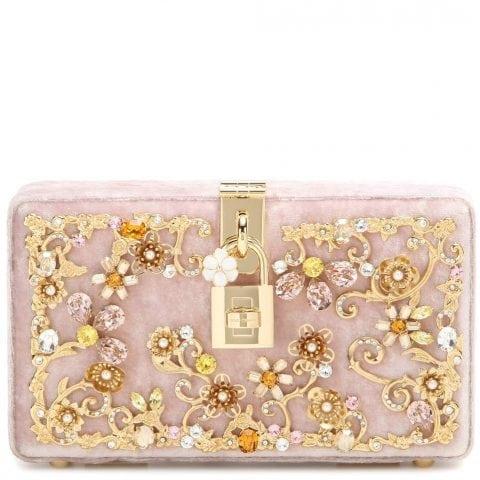 Dolce & Gabbana Embellished Box Clutch Samt