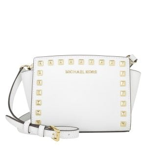 Michael Kors Selma Stud Mini Messenger Optic White - Mini Taschen Sale