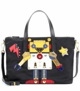 6f32d86d0d0b Prada Schultertasche Robot mit Leder bunt, Prada Tasche