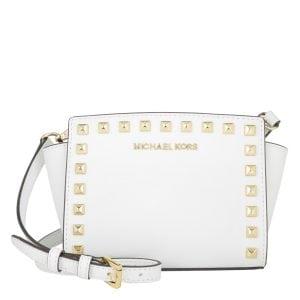 Michael Kors Selma Stud Mini Messenger Optic White - Mini Taschen Sale